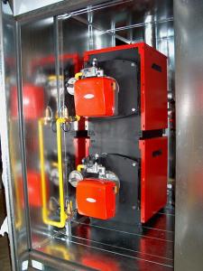 Chaudière eau chaude container extérieur