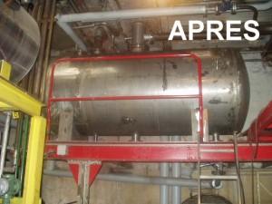 Installation bâche alimentaire pour les chaudières vapeur