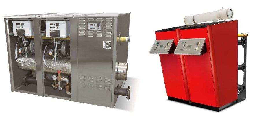 Chaudière eau chaude à condensation modulaire