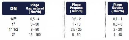 Débitmètres thermique massique gaz naturel, propane, butane